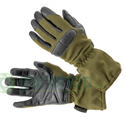 Перчатки Defcon 5 GUANTO LONG NOMEX WITH ANTIBACTERIALGOATSKIN PALM LEATHER OD GREEN M