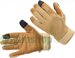 Перчатки Defcon 5 SHOOTING GLOVES WITH LEATHER PALM COYOTE TAN S ц:песочный
