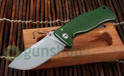 Нож Lionsteel SR MINI Green Alluminium body Inox Sleipner